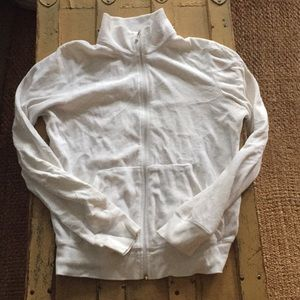 AUTH JUICY COUTURE WHITE ZIP UP JACKET L M